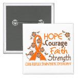 Hope Courage Faith Strength 3 RSD Pinback Buttons