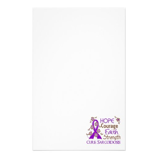 Hope Courage Faith Strength 3 Sarcoidosis Stationery