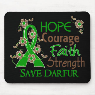 Hope Courage Faith Strength 3 Save Darfur Mouse Pad