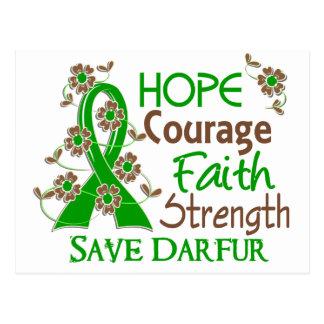 Hope Courage Faith Strength 3 Save Darfur Postcard