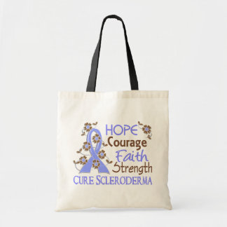Hope Courage Faith Strength 3 Scleroderma Tote Bags