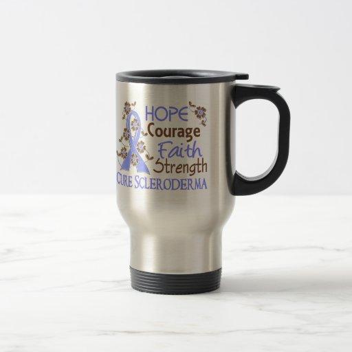 Hope Courage Faith Strength 3 Scleroderma 15 Oz Stainless Steel Travel Mug