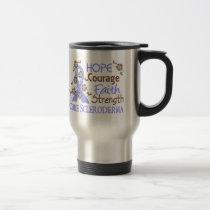 Hope Courage Faith Strength 3 Scleroderma Travel Mug