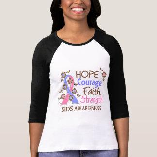 Hope Courage Faith Strength 3 SIDS T Shirt