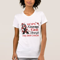 Hope Courage Faith Strength 3 Skin Cancer T-Shirt