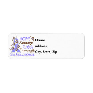 Hope Courage Faith Strength 3 Stomach Cancer Label