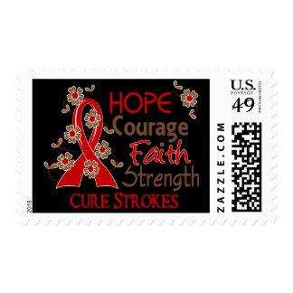 Hope Courage Faith Strength 3 Stroke Stamp