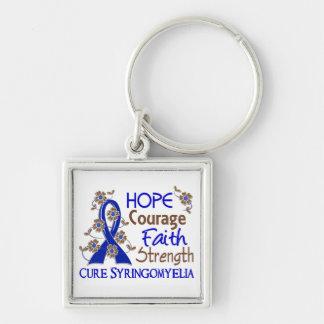 Hope Courage Faith Strength 3 Syringomyelia Keychain