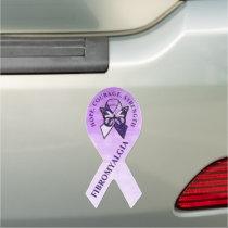 Hope, Courage, Strength Fibromyalgia Car Magnet
