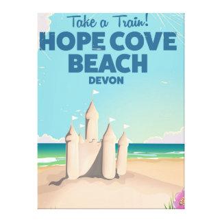 Hope Cove Beach Devon Vintage travel poster Canvas Print