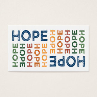 Hope Cute Colorful Business Card