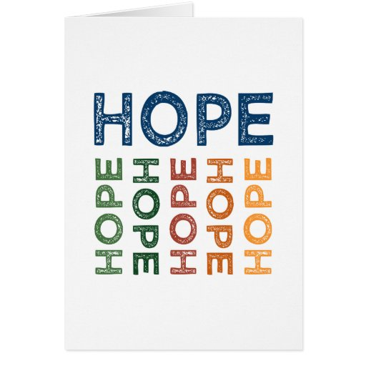 Hope Cute Colorful Greeting Cards
