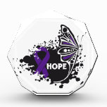 Hope Cystic Fibrosis Butterfly Acrylic Award