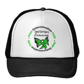 Hope Determination Faith Spinal Cord Injury Mesh Hat