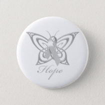 Hope Diabetes Awareness Butterfly Button