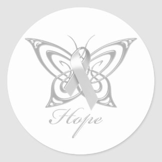 Hope Diabetes Awareness Butterfly Classic Round Sticker