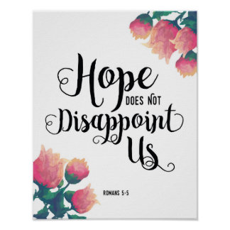 Hope Does Not Disappoint Us Art Print