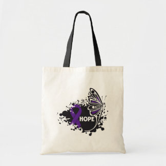 Hope Domestic Violence Butterfly Budget Tote Bag
