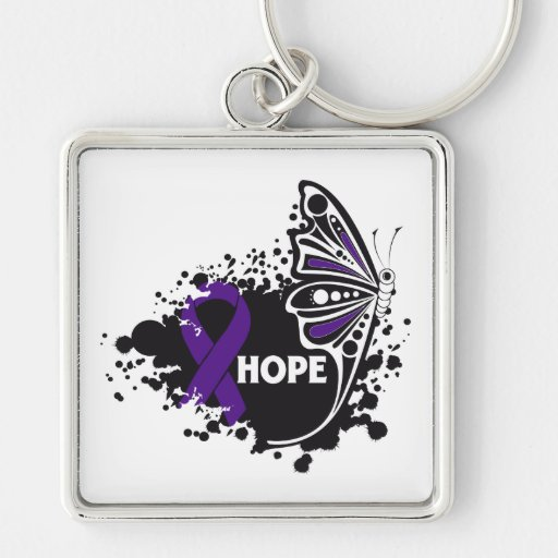 Hope Domestic Violence Butterfly Keychains