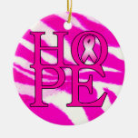 Hope Double-Sided Ceramic Round Christmas Ornament