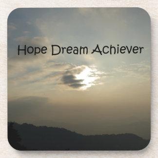 Hope Dream Achieve Beverage Coaster
