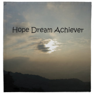 Hope Dream Achieve Cloth Napkin