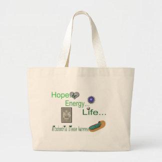 hope energy life mito canvas bag