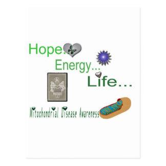 hope energy life mito postcard