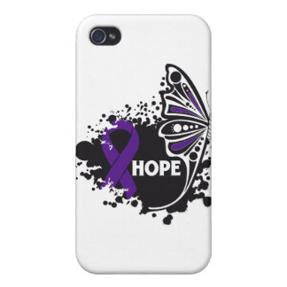 Hope Epilepsy Butterfly iPhone 4 Cover