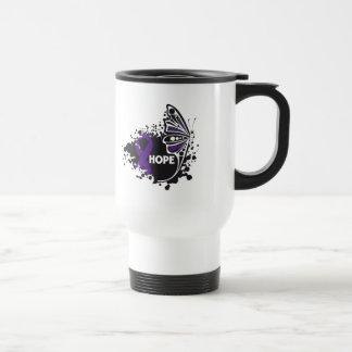 Hope Epilepsy Butterfly 15 Oz Stainless Steel Travel Mug