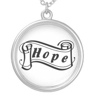 Hope - esperanza Fantasy especie Art Deco - Collar Plateado