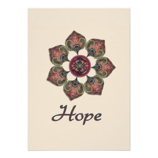 HOPE Fabric Collage Flower Inspiration Series Personalized Invitations