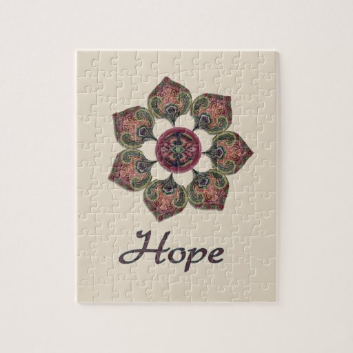 HOPE Fabric Collage Flower Inspiration Series Jigsaw Puzzle