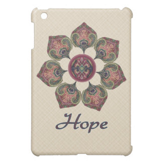 HOPE Fabric Collage Flower Red and Blue iPad Mini Case