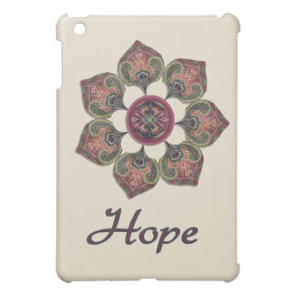 HOPE Fabric Collage Flower Red and Blue iPad Mini Cover