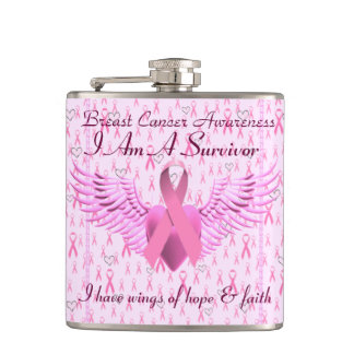 Hope & Faith,Breast Cancer Awareness_ Hip Flask