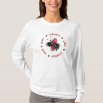 Hope Faith Courage Melanoma Butterfly T-Shirt
