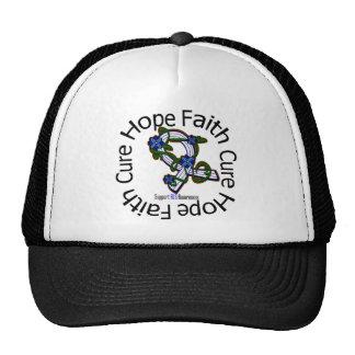Hope Faith Cure ALS Disease Flower Ribbon Trucker Hat