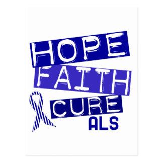 HOPE FAITH CURE ALS POSTCARD