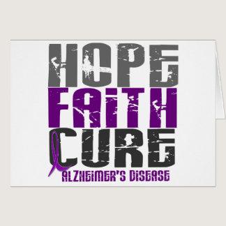 HOPE FAITH CURE ALZHEIMER'S DISEASE CARD