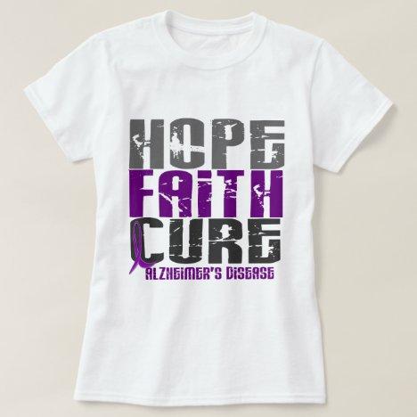 HOPE FAITH CURE ALZHEIMER'S DISEASE T-Shirt