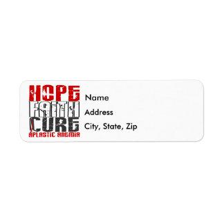 Hope Faith Cure Aplastic Anemia Label