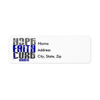 Hope Faith Cure ARDS Label