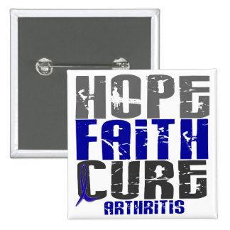 HOPE FAITH CURE ARTHRITIS T-Shirts & Apparel Pin