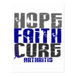 HOPE FAITH CURE ARTHRITIS T-Shirts & Apparel Postcard