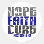 HOPE FAITH CURE ARTHRITIS T-Shirts & Apparel Classic Round Sticker