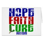 HOPE FAITH CURE AUTISM GREETING CARD