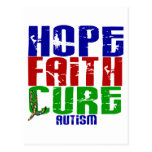 HOPE FAITH CURE AUTISM POST CARDS