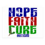 HOPE FAITH CURE AUTISM T-Shirts & Apparel Postcard