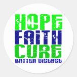 Hope Faith Cure Batten Disease Classic Round Sticker